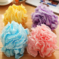 Wholesale cooling tub online - Multicolour Bath Ball Bath Tubs Cool Ball Bath Towel Scrubber Body Cleaning Mesh Flower Shower Sponge Wash Bathroom Accessories