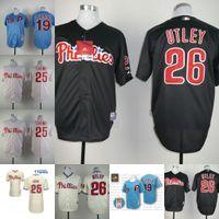 e28cd7a35db ... Mens Philadelphia Phillies Baseball Jersey 19 GREG LUZINSKI 25 Jim  Thome 26 Chase Utley Jersey Free ...
