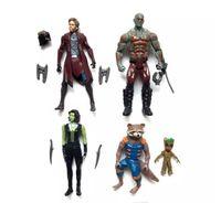 suicune figur großhandel-Guardians of the Galaxy 2 Action-Figuren Puppen Spielzeug New Cartoon Kids Avengers Stern-Lord Rocket Baby Groot PVC-Spielzeug 5 Stil gesetzt A 080