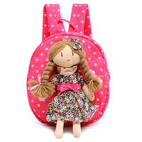 Wholesale backpack old school - Backpacks Style Cartoon Doll Baby Kindergarten School Bag for 1-6 Years Old Plush Child Boys Girls Backpack Gifts BP-14