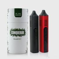 pantalla de cera al por mayor-1pc Conqueror Vaporizer Dry Herb Vapor Starter Kit con Temp Control OLED Screen Kit de cera herbal Hebe Titan Pro Elite