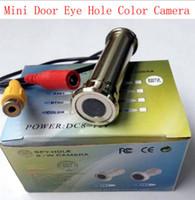 Wholesale Cctv Color Splitter - cctv Door Eye Hole Color mini Camera 2.8mm Lens 700TVL 1 4inch CMOS Sensor Surveillance CCTV Color Camera