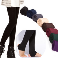 Wholesale Trample Feet Pants - Wholesale- Hot Sale Women Autumn Winter Thick Warm Legging Brushed Lining Stretch Fleece Pants Women Trample Feet Leggings