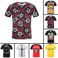 Wholesale Famous T Shirts Designs - 2018 the most popular men's T-shirts with fashion design famous brand 100% cotton comfortable men's T-shirts