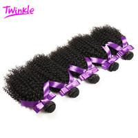 6a brazilian bakire kinky kıvırcık saç toptan satış-6A Moğol Sapıkça Kıvırcık Bakire Saç 5 demetleri Ucuz Işlenmemiş Brezilyalı Afro Kinky Kıvırcık Saç İnsan Saç DHL Ücretsiz kargo