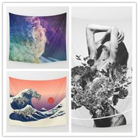 Wholesale Art Prints Beach - Space Art Tapestry Background Yoga Home Cloth Beach Towel Living Room Decoration Wall decoration ECO Friendly
