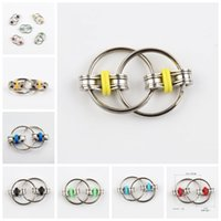 Wholesale fidget rings for adhd resale online - High Speed Rotation Toys Hand Spinner Fidget Key Ring Toy Stress Reducer Perfect For ADD ADHD Anxiety and Autism Color C158Q