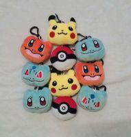 Wholesale Soft Animal Keyrings - Poke Plush toys Pikachu Elf Ball keychain Pendant pikachu Elf Ball Stuffed Animals & Plush Toys keyring 6cm(2.36inch)