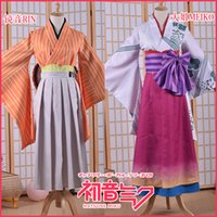 Wholesale Megurine Luka Hatsune Miku - 2017 VOCALOID cosplay costume Megurine Luka Hatsune Miku Kagamine Rin Len kaito meiko cosplay costumes Kimono full set