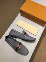 Wholesale Top Quality Leather Dress Shoe - Original Box!!!Fashion Mens Loafers Leather Shoes Dress Wedding Casual Walk Shoes Paris Office Drive Flat Heel Pumps Top Quality Size38-45