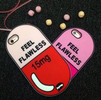 Cute Capsule Pill Soft Silicon Shell capa 3D para Apple iPhone 6 6S 7 4.7