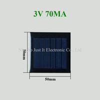 painéis de resina venda por atacado-Painel solar 3V 70mA da resina de cola Epoxy mini 200pcs 50 * 50mm