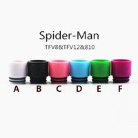 Spiderman drip tip spiderman electronics - 2017 Colorful Newest Spiderman tfv8 TFV12 drip tips Wide bore Mouthpiece for Electronic Cigarette Mouthpiece Tank