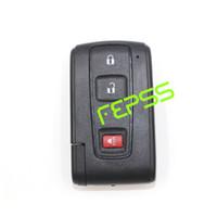 llaves de toyota prius al por mayor-Nuevo Smart Remote Shell Case Fob 2 + 1 botón para Toyota Prius 2004-2009