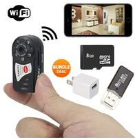 Wholesale Ip Video Recording - 16GB Memory Spy camera Camecho Portable Mini Hidden Camera Wifi IP Camera recorder, Video Recorder with Voice Recording, Network Cam PQ220