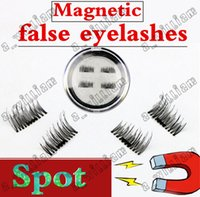 Wholesale Eyelash Glue Stone - 50PCS HOT magnet false eyelash suction stone mascara magnetic magnetic buckle without glue three-dimensional multi-layer natural thick