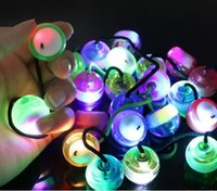 Wholesale Cheap Led Light Up Toys - 100PCS Cheap LED Light Up Finger Balls Fidget YOYO Toys Begleri Thumb Chucks Bundle Control Roll Anti Stress