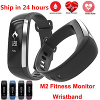 Wholesale Wholesale Wrist Blood Pressure Monitor - Waterproof M2 Band Blood Pressure Blood Oxygen Monitor Bracelet Bluetooth 4.0 Wristband Pedometer Fitness Activity Tracker Smart Bracelet