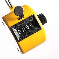 счетчики счетчиков оптовых-Tally Clicker счетчик 4-значный номер Clicker Гольф цифровой хром ручной лучшие продажи