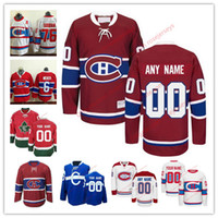 Wholesale Classic Custom - Stitched Custom Montreal Canadiens mens womens youth OLD BRAND Customized White Winter Classic third Blue Home Red CH CD hockey Jersey S-4XL