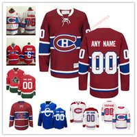 Camisetas De Hockey Personalizados Baratos-Stitched Custom Montreal Canadiens para mujer para jóvenes OLD BRAND Customized White Winter Classic para terceros Blue Home Red CH CD hockey Jersey para S-4XL