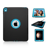Wholesale Hard Case For Apple Ipad - Full Body Protective Shockproof Heavy Duty Impact Hybrid Slicone TPU Hard Case Smart Cover For iPad 2 3 4 6 7 Pro 9.7 Mini Mini4