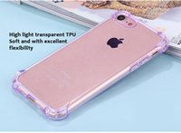 Wholesale Rose Anti Dust Plug - Silicone Anti-Knock Case For iPhone 7 7plus 6 6s Crystal Clear Back Cover Dust Plug TPU For iPhone 5S 5 SE Phone Case highlight transparent