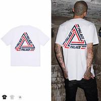 Wholesale Luminous Mens Shirts - New Style Triangle Printing Round Collar Cotton Short Sleeve T-Shirt Luminous Camouflage Mens Wear Short Sleeve T-Shirt
