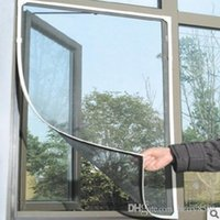 Wholesale Net Window Curtain - DIY Flyscreen Bug Mosquito Net Door Window Net Netting Mesh Screen Curtain Protector Flyscreen Worldwide Newest