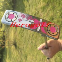 Wholesale Pink Select - 2017 High quality golf putter pink color Select my girl putter 33inch XOXO with headcover golf clubs