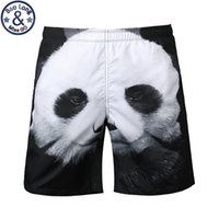 Wholesale Wholesale Good Quality Mens Clothing - Wholesale- Good Quality Mens Beach Shorts 3D Print Animal Panda Brand Summer Casual Clothing Shorts Quick Drying Clothing