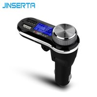 Wholesale Mp3 Player Support U Disk - Wholesale-Bluetooth FM Transmitter Modulator Voltage Detector AUX Output Car Audio MP3 Player Support TF Micro SD U Disk Dual USB Charger