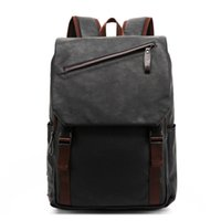 Wholesale Leather Notebooks For Men - Wholesale- PU large space men's leather backpacks male students casual for school ,travel,,casual bag,notebook back packs,male bag