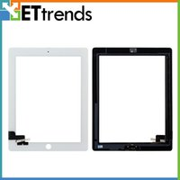 Wholesale 3m Glass - high quality lcd creen for iPad 2 3 4 Touch Screen Glass Digitizer Assembly With Home Button & 3M Adhensive Free Shipping by DHL