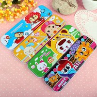 Wholesale Metal Gift Box Suppliers - Multifunctional Two Layer Children Cartoon Stationery Box Pencil Cases Student Creative School Supplier Kids Gifts Pen Box Free DHL FEDEX