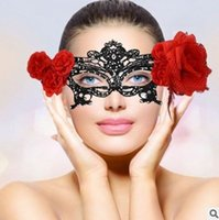 Wholesale Sexy Ladies Appeal - New arrival fashion Sexy Halloween masquerade Black Lace Princess adult eye lady lace party appeal face