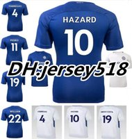 Wholesale 17 TOP Quality Chelsea Soccer Jersey Home Blue White Willian HAZARD Pedro DIEGO COSTA KANTE WILLIAN DAVID LUIZ Football Shirts