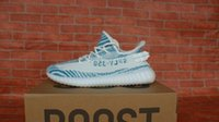 Wholesale Tinted Pvc - Boost 350 v2 Blue Zebra Shoes Womens Mens Sply 350 V2 Blue Tint Sneakers Size 36-45 Come With Box Free Shipping
