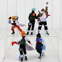 Wholesale Naruto Kid - 10-15cm Naruto Hatake Kakashi Uzumaki Naruto PVC Action Figure Medol Toy for Kids gift Free Shipping retail