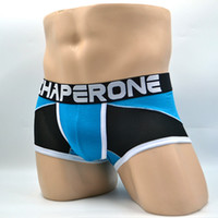 Wholesale Translucent Netting - Chaperone spring and summer new men's underwear sexy translucent net yarn flat pants boxer temptation modal underwear