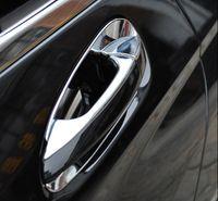 Wholesale Car Exterior Door Handle - Car Door Handle Decorative Cover Trim ABS Strip For Mercedes Benz C class W204 180 200 2010-14 Exterior Door Bowl Sequins