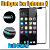 Wholesale Silk Glasses Box - For Iphone X 8 Temper Glass 2018 New 9H Hardness Crystal Clear Premium Silk Full Cover Hard Edge Screen Protector with Retail Box