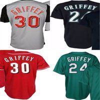 Wholesale Hot Ken - 2016 New Hot sale 2015 Seattle Jerseys Ken Griffey jr Navy Blue Gray Red Flex Cool Base Cheap Baseball Jersey shirt XS-6XL