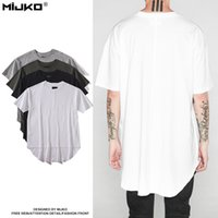 Wholesale Dovetail Shirts - 2017 men fashion T-shirt spring summer new tide brand wild solid color street dovetail short sleeve T-shirt simple white tshirt