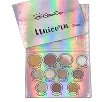 Wholesale Wholesale Free Delivery - Makeup GlitterEyes Magica Unicorn Palette 11 Colors Shimmer Waterproof Eye Shadow Makeup Pressed Eyeshadow Palette Free Delivery