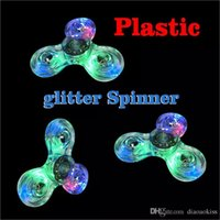 Wholesale Cheapest White Latex - Cheapest 109Pcs Luminous Glitter Jelly Clear Fidget Spinner Led Spinner Crystal Hand Spinner Tri Fidget Ceramic Ball Desk Focus Toys