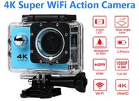 Wholesale Led Cmos Camera - Ultra HD 4K Action Camera 30m waterproof 2.0' Screen 1080P 16MP Sport Wifi Camera extreme HD Camcorder
