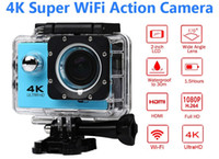 spor için kameralar toptan satış-Ultra HD 4 K Eylem Kamera 30 m su geçirmez 2.0 'Ekran 1080 P 16MP Spor Wifi Kamera aşırı HD Kamera