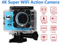 kameras camcorder großhandel-Ultra HD 4 Karat Action Kamera 30 mt wasserdicht 2,0 'Bildschirm 1080 P 16MP Sport Wifi Kamera extreme HD Camcorder