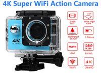 Wholesale camera sport hd 4k online - Ultra HD K Action Camera m waterproof Screen P MP Sport Wifi Camera extreme HD Camcorder